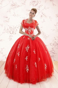 Ball Gown Sweetheart Appliques Quinceanera Dress With