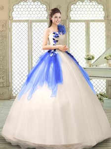 Exclusive Ball Gown Appliques Quinceanera Gowns in Multi Color