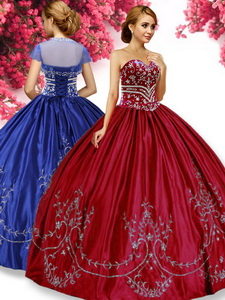 Classical Wine Red Quinceanera Dress with Beading and Appliques