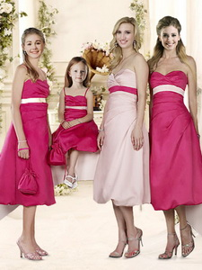 Elegant Sashed And Ruched Quinceanera Court Dress In Baby Pink