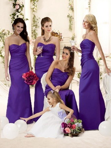 Fashionable Mermaid Floor-length Quinceanera Court Dress In Purple