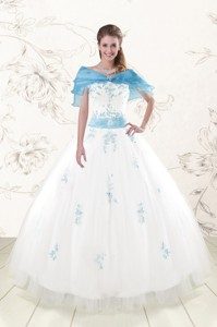 White Ball Gown Discount Pretty Quinceanera Dress