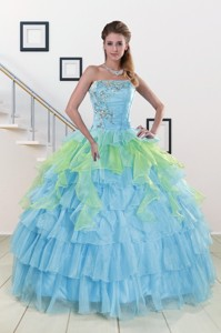 Pretty Strapless Quinceanera Dress With Beading