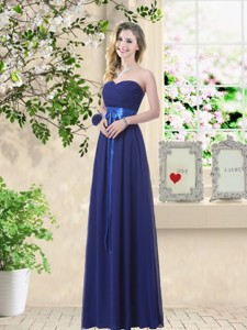 Discount Sweetheart Floor Length Quinceanera Dama Dress With Sash