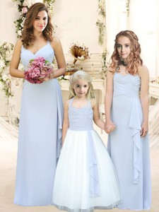Modest Ruffled Empire Quinceanera Dama Dress With Halter Top