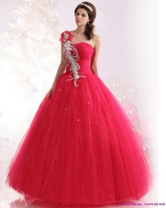 The Super Hot One Shoulder Quinceanera Dress With Beading
