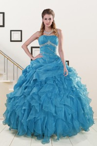 Luxurious Strapless Quinceanera Dress With Beading And Ruffles