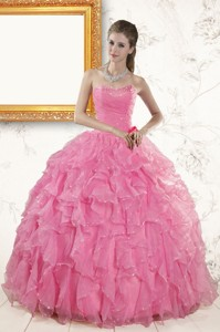 Pretty Sweetheart Beading Baby Pink Quinceanera Dress