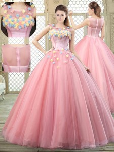 New Style Scoop Quinceanera Dress With Zipper Up