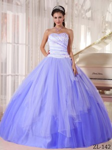 Affordable Ball Gown Sweetheart Beading Quinceanera Dress in White and Blue