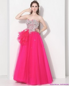 Gorgeous Hot Pink Sweet Sixteen Dress With Rhinestones