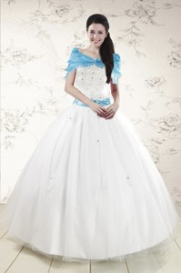 Discount White Quinceanera Dress With Appliques