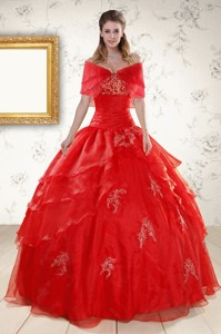 New Style Strapless Quinceanera Dress With Appliques