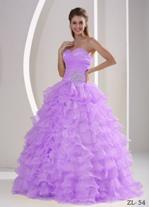 Ruffles Sweetheart Appliques and Ruch Quinceaners Gowns For Military Ball