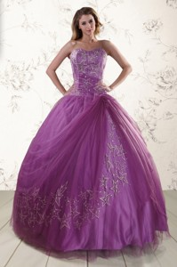 Beautiful Sweetheart Purple Quinceanera Dress With Appliques