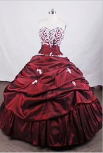 Beautiful Ball Gown Sweetheart Floor-length Quinceanera Dress Appliques