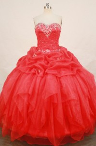 Fashionable Ball Gown Sweetheartfloor-length Quinceanera Dress Appliques With Beading