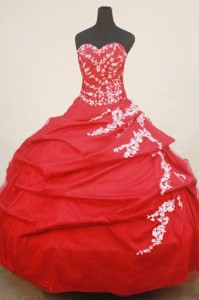 Beautiful Ball Gown Sweetheartfloor-length Quinceanera Dress Appliques