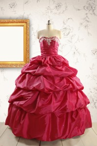 Appliques Hot Pink Quinceanera Dress With Lace Up