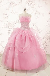 Pretty Appliques Baby Pink Quinceanera Dress