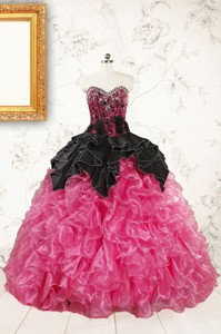 Trendy Multi Color Ball Gown Ruffled Quinceanera Dress