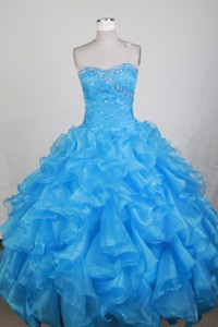 Exclusive Ball Gown Sweetheart Neck Floor-length Baby Blue Quinceanera Dress