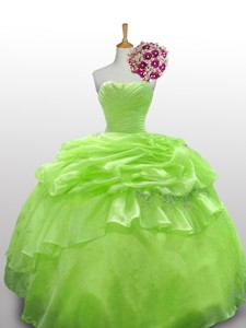 Luxurious Quinceanera Dress With Paillette And Ruffled Layers