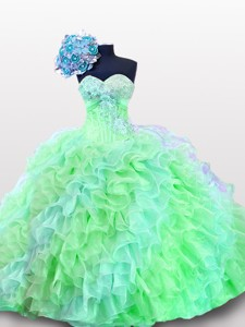 Luxurious Sweetheart Quinceanera Dress With Appliques And Sequins