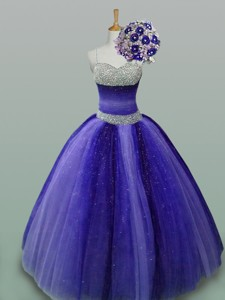 Luxurious Quinceanera Dress With Beading In Tulle