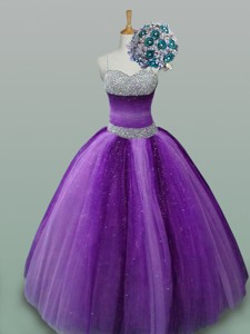 Popular Beaded Quinceanera Dress In Spaghetti Straps