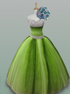 Puffy Most Popular Quinceanera Dress With Spaghetti Straps
