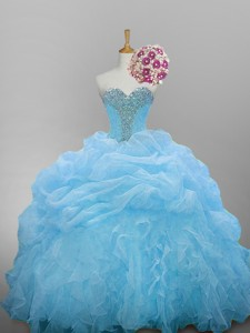 Romantic Sweetheart Quinceanera Dress With Beading And Ruffled Layers
