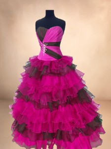 Popular Multi Color Sweet 16 Gowns with Ruffled Layers