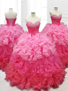 Popular Ball Gown Quinceanera Dress With Beading And Ruffles