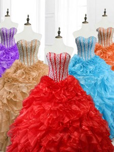 Hot Sale Ball Gown Sweetheart Quinceanera Dress With Beading