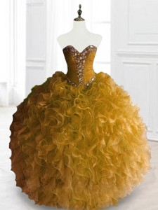 Exclusive Ball Gown Sweet 16 Dress With Beading And Ruffles