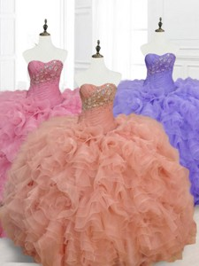 Low Price Ball Gown Sweetheart Quinceanera Dress With Beading