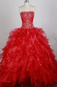 Beautiful Ball Gown Strapless Floor-length Quinceanera Dress