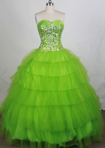 Discount Ball Gown Sweetheart-neck Floor-length Quinceanera Dress