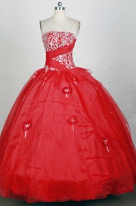 Popular Ball Gown Strapless Floor-length Quinceanera Dress