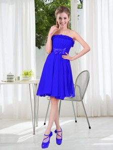 Short Strapless Bridesmaid Dress For Wedding Party