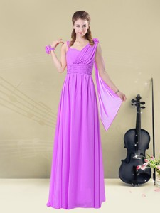 Classical Straps Floor Length Bridesmaid Dress