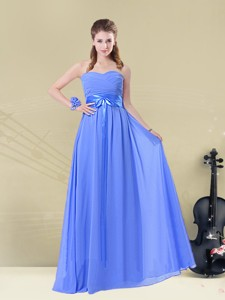 Hot Sale Sweetheart Bridesmaid Dress With Ruching And Belt