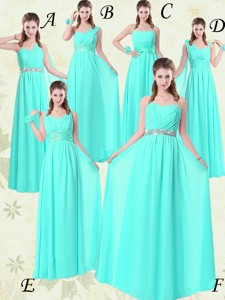 Gorgeous Empire Bridesmaid Dress With Belt In Apple Green