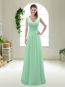 New Style Zipper Up Bridesmaid Dress With V Neck