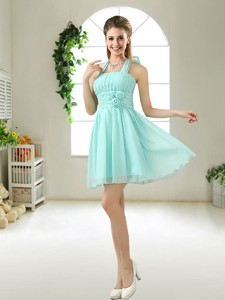 Wonderful Hand Made Flowers Bridesmaid Dress In Apple Green