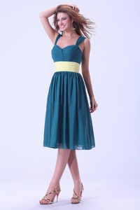 Straps Prom / Homecoming Dress Knee-length Chiffon For Custom Made
