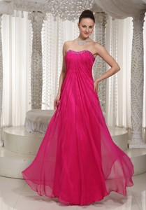 Vintage Homecoming Dress With Strapless Hot Pink Beading