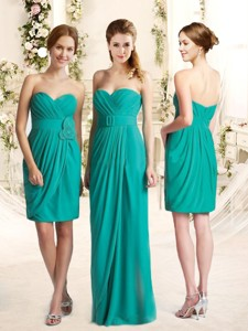 Popular Empire Sweetheart Bridesmaid Dress with Sashes and Ruching