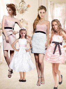 The Super Hot Mini Length Bridesmaid Dress with Sashes and Ruffles